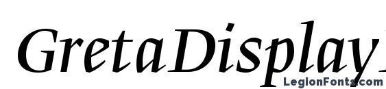 GretaDisplayPro Italic Font, Calligraphy Fonts
