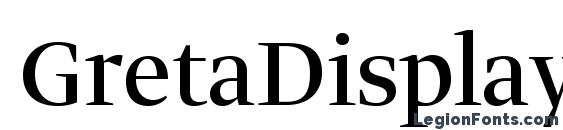 Шрифт GretaDisplayPro Regular