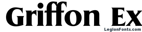 шрифт Griffon Extrabold, бесплатный шрифт Griffon Extrabold, предварительный просмотр шрифта Griffon Extrabold