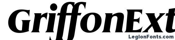 Шрифт GriffonExtrabold Italic