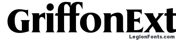 GriffonExtrabold Regular Font