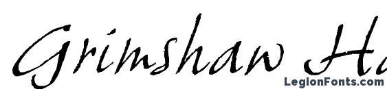 Grimshaw Hand ITC TT Font, Cursive Fonts