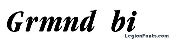Шрифт Grmnd bi