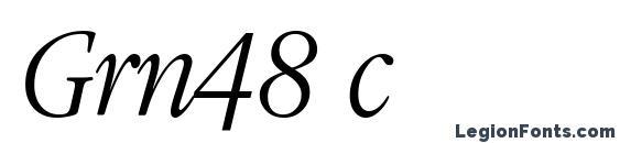 Grn48 c Font