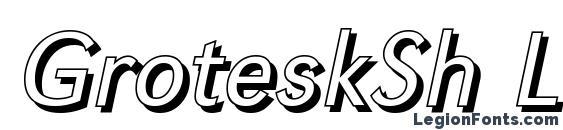 GroteskSh Light Italic font, free GroteskSh Light Italic font, preview GroteskSh Light Italic font