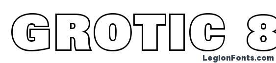Grotic 8 Font