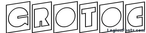 Grotocmotlup regular Font