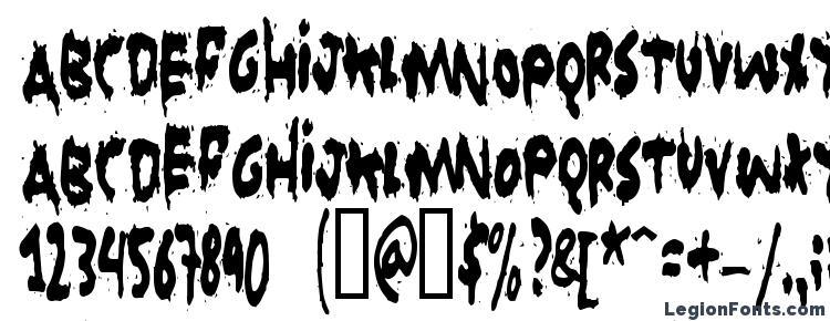 glyphs Grunt Reaper font, сharacters Grunt Reaper font, symbols Grunt Reaper font, character map Grunt Reaper font, preview Grunt Reaper font, abc Grunt Reaper font, Grunt Reaper font