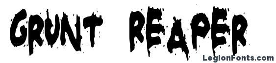 Grunt Reaper font, free Grunt Reaper font, preview Grunt Reaper font