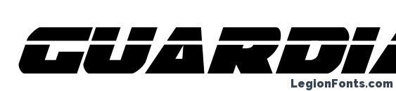 Guardian Laser Italic Font
