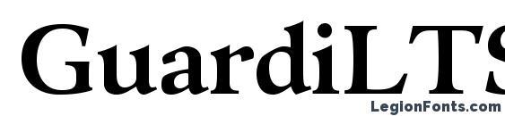 GuardiLTStd Bold font, free GuardiLTStd Bold font, preview GuardiLTStd Bold font