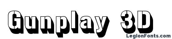 Gunplay 3D Font, 3D Fonts