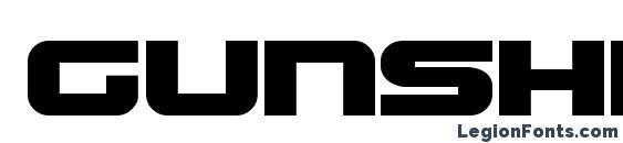 Шрифт Gunship bold