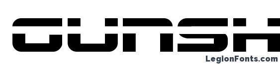 Шрифт Gunship laser