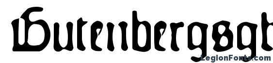 Шрифт Gutenbergsghostypes
