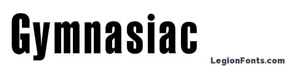 шрифт Gymnasiac, бесплатный шрифт Gymnasiac, предварительный просмотр шрифта Gymnasiac