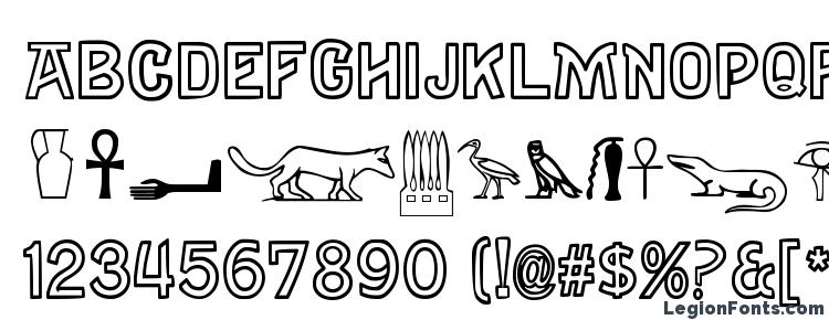 glyphs Gyptiennenormal font, сharacters Gyptiennenormal font, symbols Gyptiennenormal font, character map Gyptiennenormal font, preview Gyptiennenormal font, abc Gyptiennenormal font, Gyptiennenormal font