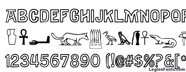 глифы шрифта Gyptiennenormal, символы шрифта Gyptiennenormal, символьная карта шрифта Gyptiennenormal, предварительный просмотр шрифта Gyptiennenormal, алфавит шрифта Gyptiennenormal, шрифт Gyptiennenormal
