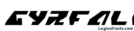 Шрифт Gyrfalcon Italic