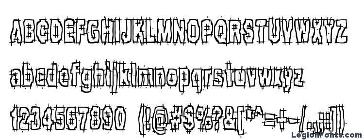 glyphs Hack & Slash BRK font, сharacters Hack & Slash BRK font, symbols Hack & Slash BRK font, character map Hack & Slash BRK font, preview Hack & Slash BRK font, abc Hack & Slash BRK font, Hack & Slash BRK font