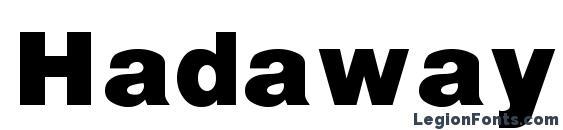 Hadaway black Font