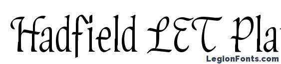 Hadfield LET Plain.1.0 Font