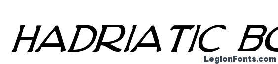 Hadriatic Bold Italic Font