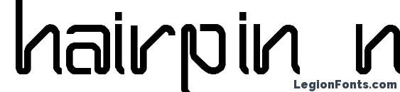 Hairpin Normal Font