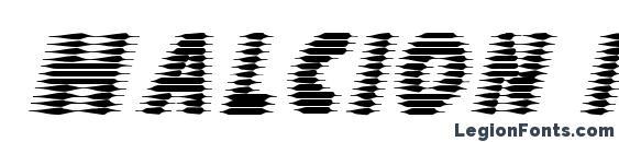 Шрифт Halcion italic