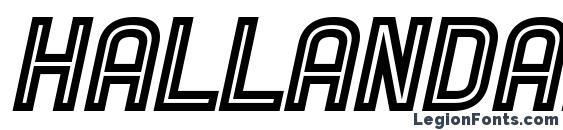 Hallandale Inline Italic JL Font