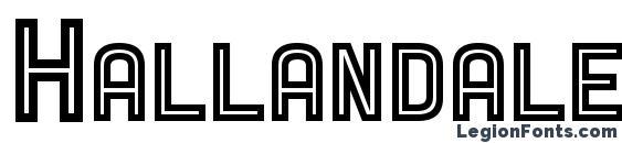 Hallandale SC Inline JL Font