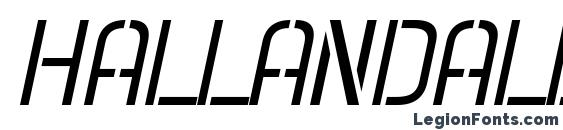 Hallandale Stencil Italic JL Font