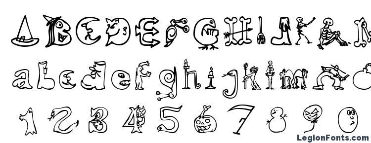 glyphs halloween match font haracters halloween match font symbols halloween match font character