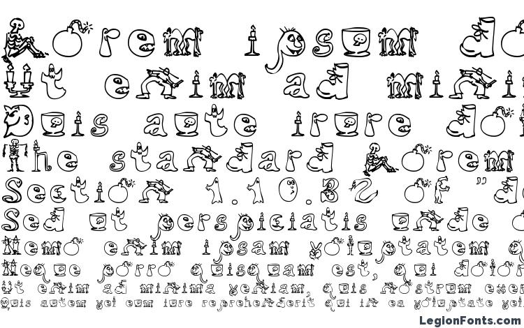 specimens halloween match font sample halloween match font an example of writing halloween match