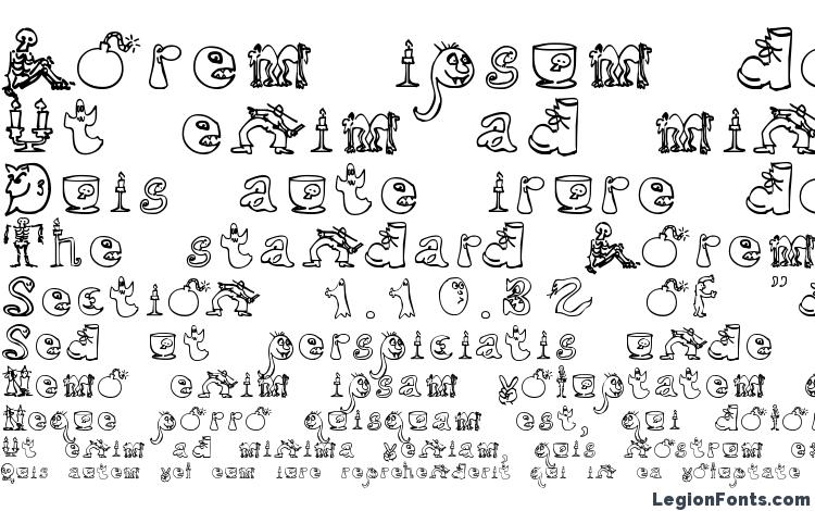specimens Halloween Unregistered font, sample Halloween Unregistered font, an example of writing Halloween Unregistered font, review Halloween Unregistered font, preview Halloween Unregistered font, Halloween Unregistered font