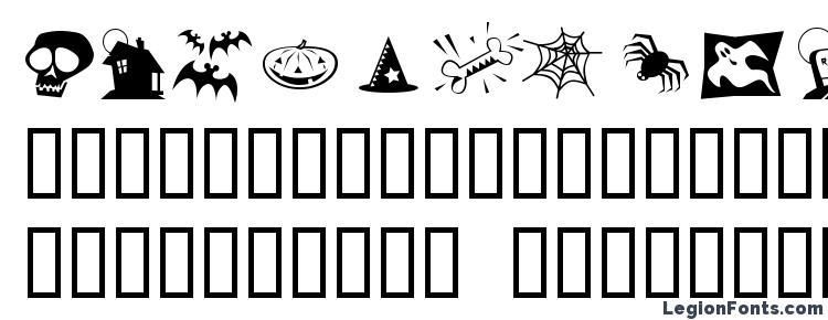 глифы шрифта Halloweenies, символы шрифта Halloweenies, символьная карта шрифта Halloweenies, предварительный просмотр шрифта Halloweenies, алфавит шрифта Halloweenies, шрифт Halloweenies