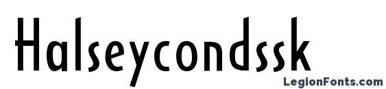 шрифт Halseycondssk, бесплатный шрифт Halseycondssk, предварительный просмотр шрифта Halseycondssk