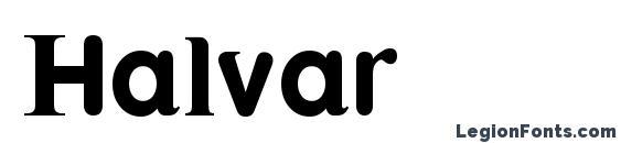 Шрифт Halvar