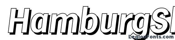 HamburgShadow BoldItalic Font, 3D Fonts