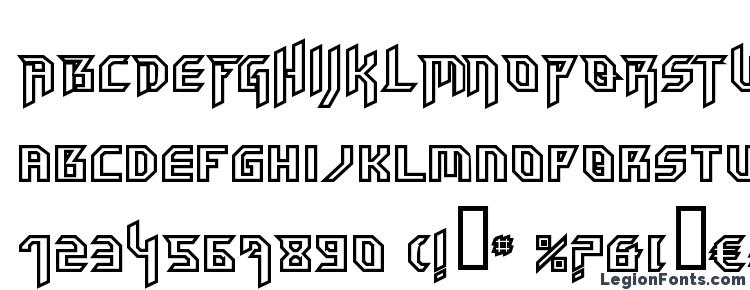 глифы шрифта HammerheadOutline, символы шрифта HammerheadOutline, символьная карта шрифта HammerheadOutline, предварительный просмотр шрифта HammerheadOutline, алфавит шрифта HammerheadOutline, шрифт HammerheadOutline