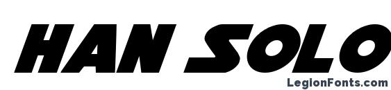 Шрифт Han Solo Italic