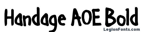 Handage AOE Bold Font