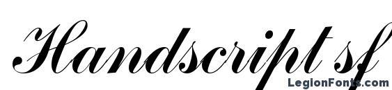 шрифт Handscript sf, бесплатный шрифт Handscript sf, предварительный просмотр шрифта Handscript sf