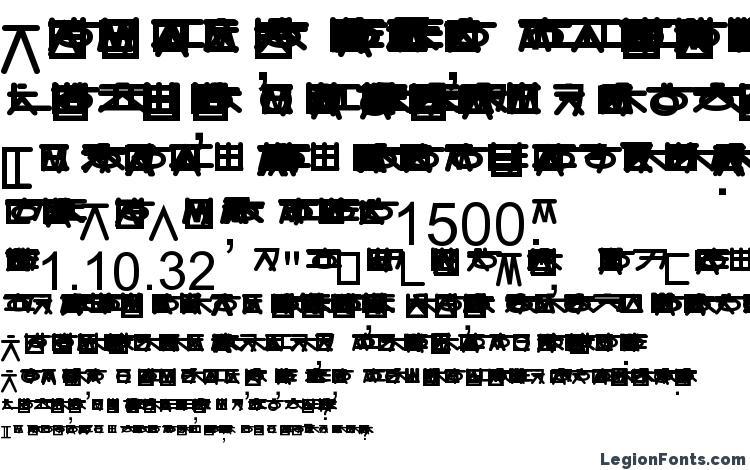 specimens Hangulgothic font, sample Hangulgothic font, an example of writing Hangulgothic font, review Hangulgothic font, preview Hangulgothic font, Hangulgothic font