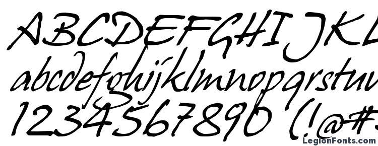глифы шрифта HansHand cyr, символы шрифта HansHand cyr, символьная карта шрифта HansHand cyr, предварительный просмотр шрифта HansHand cyr, алфавит шрифта HansHand cyr, шрифт HansHand cyr