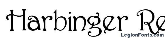 Шрифт Harbinger Regular