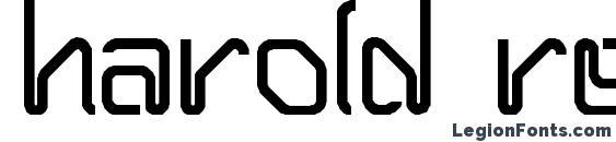 HAROLD Regular Font