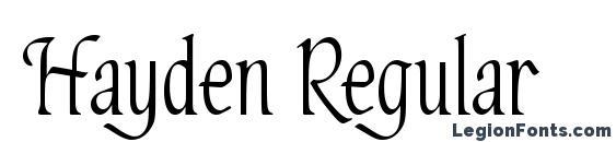 Hayden Regular Font