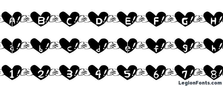 glyphs Heart font font, сharacters Heart font font, symbols Heart font font, character map Heart font font, preview Heart font font, abc Heart font font, Heart font font