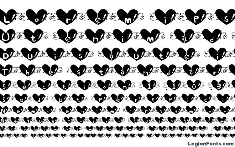 specimens Heart font font, sample Heart font font, an example of writing Heart font font, review Heart font font, preview Heart font font, Heart font font